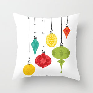 Christmas, Ornaments, Pillow, interior, decorating, style, holiday, gift, home style, illustration
