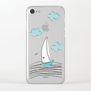 Love Sailboat iPhone Case - seashell-paper-co