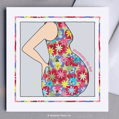 Greeting Cards, Congratulations, Pregnancy, Pregnancy Baby Congratulations Card, Pregnancy New Baby Congratulations Greeting Card, Pregnancy Baby Shower Greeting Card, Pregnancy New Baby Shower Greeting Card, Mommy to Be, Mommy to Be Greeting Card, Mommy to Be Baby Shower Card, Seashell Paper Co., Made in Canada, Sale