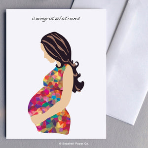 New Baby Pregnancy Card - seashell-paper-co