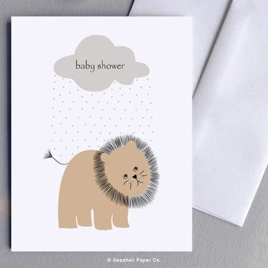 New Baby Shower Lion Card - seashell-paper-co