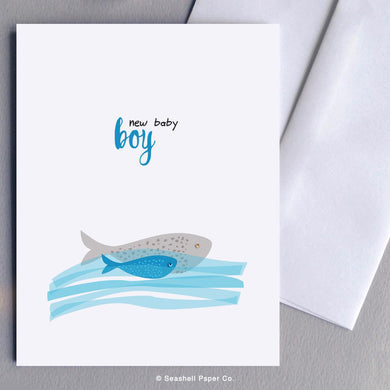 New Baby Boy Fish Card