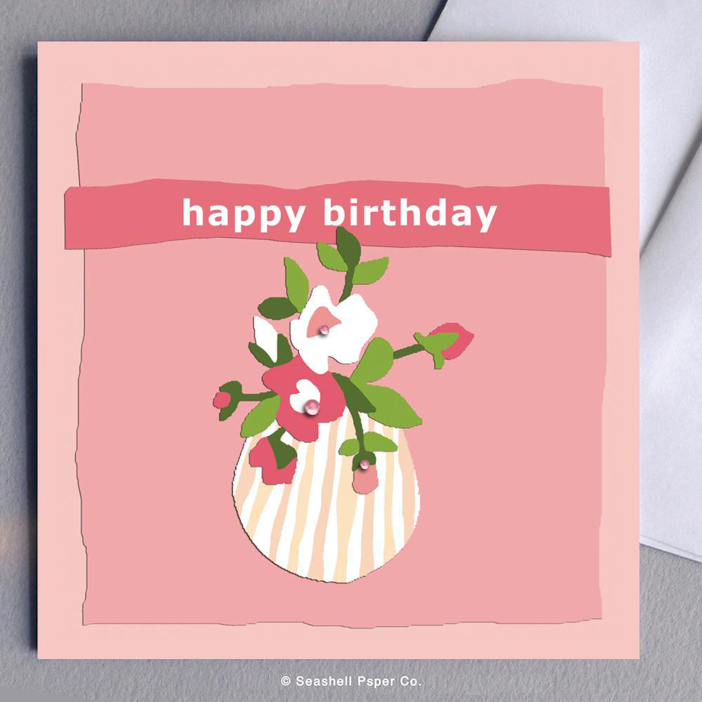 Birthday Flowers Card Wholesale (Package of 6)