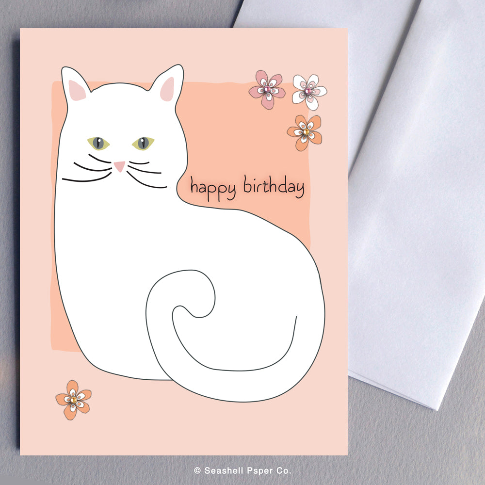 Birthday Cat Card - seashell-paper-co