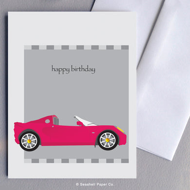 Greeting Cards, Birthday Cards, Birthday Greeting Cards, Happy Birthday Cards, Happy Birthday Greeting Card, Sports Car, Sports Car Birthday Card, Sports Car Happy Birthday Card, Sports Car Happy Birthday Greeting Card, Car, Car Birthday Card, Car Happy Birthday Card, Seashell Paper Co, Stationary, Made in Canada, Sale