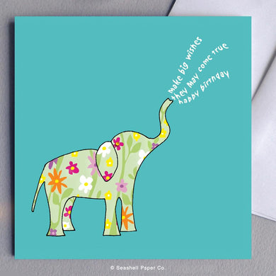 Birthday Elephant Card Wholesale (Package of 6) - seashell-paper-co
