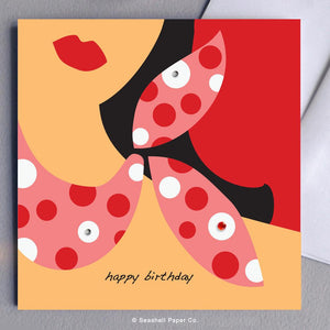 Birthday Stylish Girl Card Wholesale (Package of 6) - seashell-paper-co