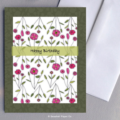 Birthday Floral Card - seashell-paper-co