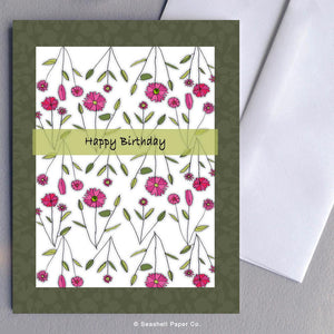 Birthday Floral Card Wholesale (Package of 6) - seashell-paper-co