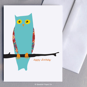 Birthday Owl Card - seashell-paper-co
