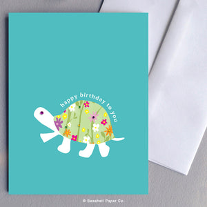 Greeting Cards, Birthday Cards, Birthday Greeting Cards, Happy Birthday Cards, Happy Birthday Greeting Card, Turtle, Turtle Birthday Card, Turtle Happy Birthday Card, Turtle Happy Birthday Greeting Card, Seashell Paper Co., Stationary, Made in Canada, Sale