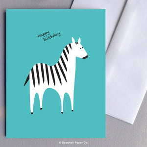 Birthday Zebra Card Wholesale (Package of 6) - seashell-paper-co