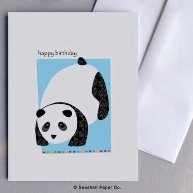 Greeting Cards, Birthday Cards, Birthday Greeting Cards, Happy Birthday Cards, Happy Birthday Greeting Card, Panda, Panda Birthday Card, Panda Happy Birthday Card, Panda Happy Birthday Greeting Card, Seashell Paper Co., Stationary, Made in Canada