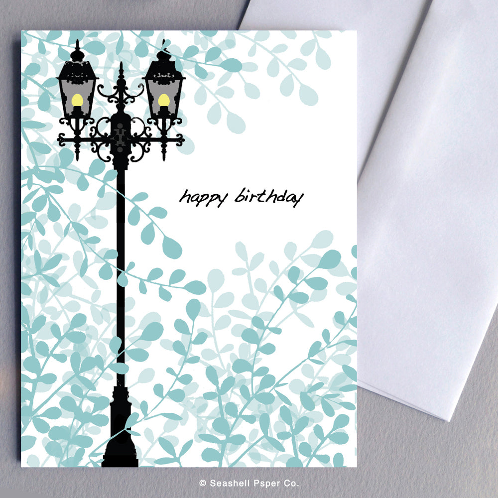 Birthday Vintage Lamppost Card - seashell-paper-co
