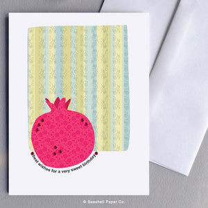 Birthday Pomegranate Card Wholesale (Package of 6)