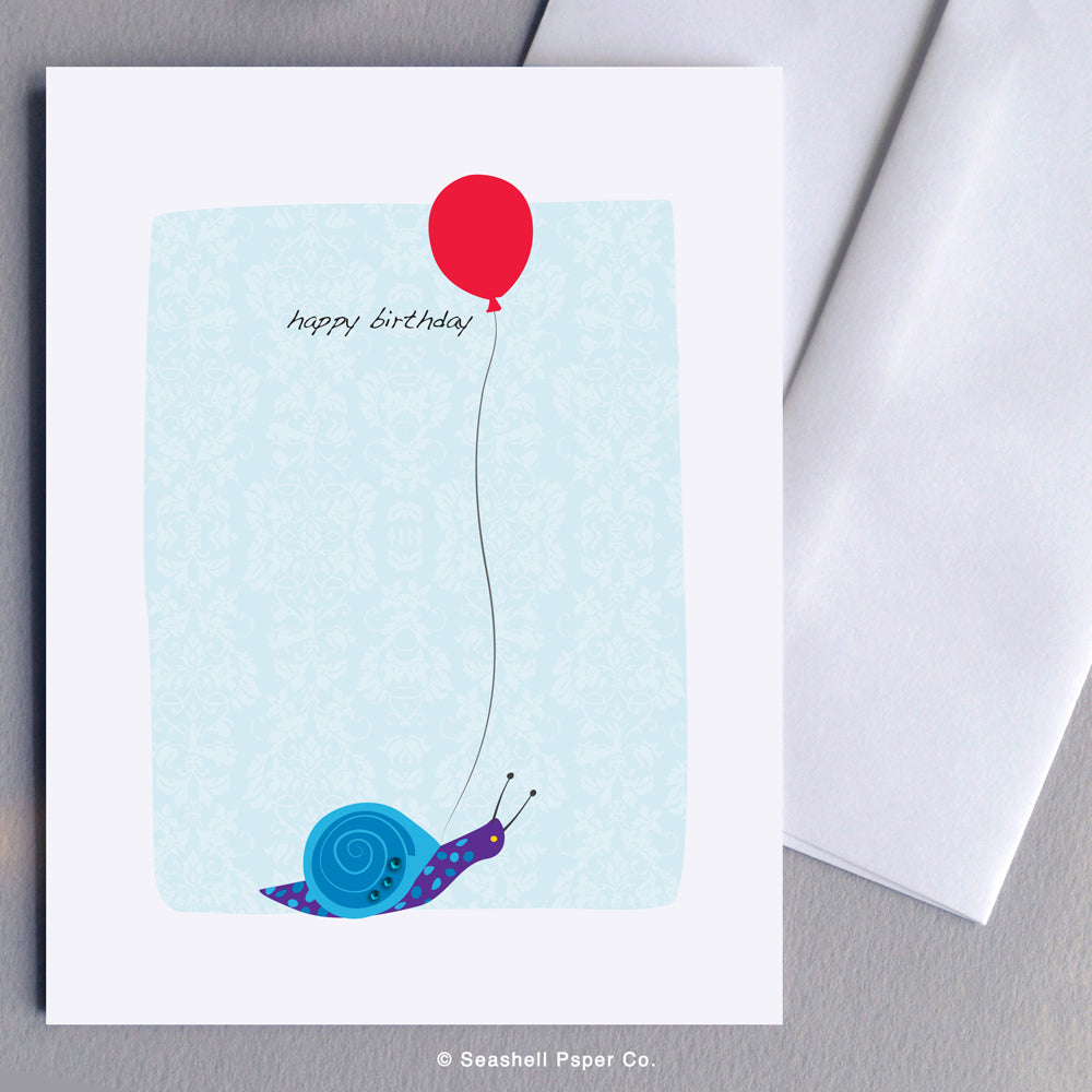 Birthday Snail Card - seashell-paper-co