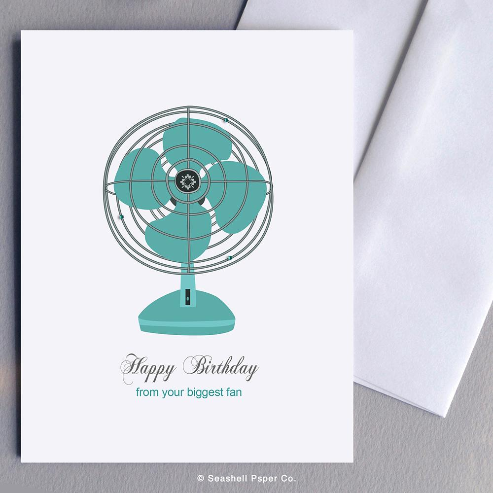 Birthday Vintage Fan Card Wholesale (Package of 6) - seashell-paper-co