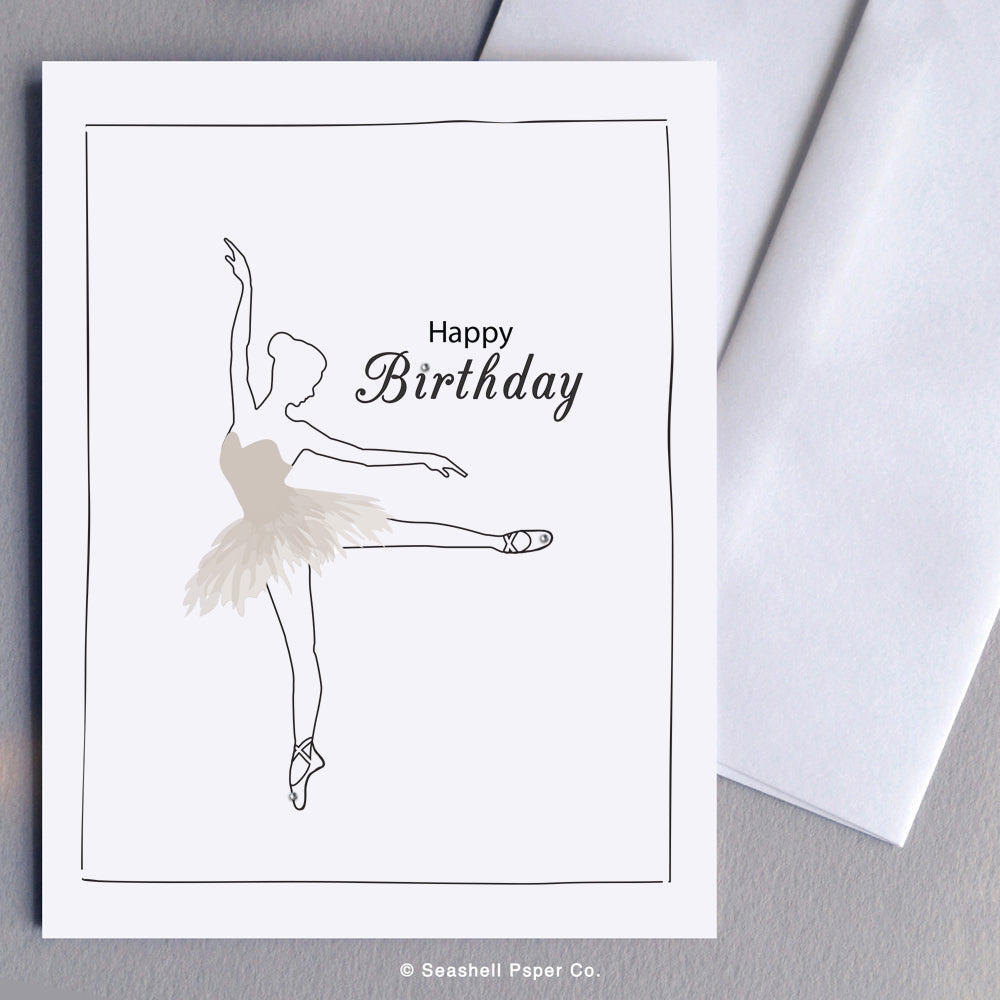 Birthday Ballerina Card - seashell-paper-co