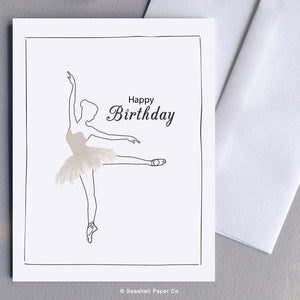 Birthday Ballerina Card Wholesale (Package of 6) - seashell-paper-co