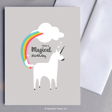 Birthday Unicorn Card Wholesale (Package of 6) - seashell-paper-co
