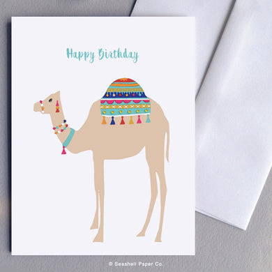Camel, Greeting Cards, Birthday Cards, Birthday Greeting Cards, Happy Birthday Cards, Happy Birthday Greeting Card, Camel Birthday Card, Camel Happy Birthday Card, Camel Happy Birthday Greeting Card, Camel Birthday Card, Camel Happy Birthday Card, Seashell Paper Co, Stationary, Made in Canada, Sale