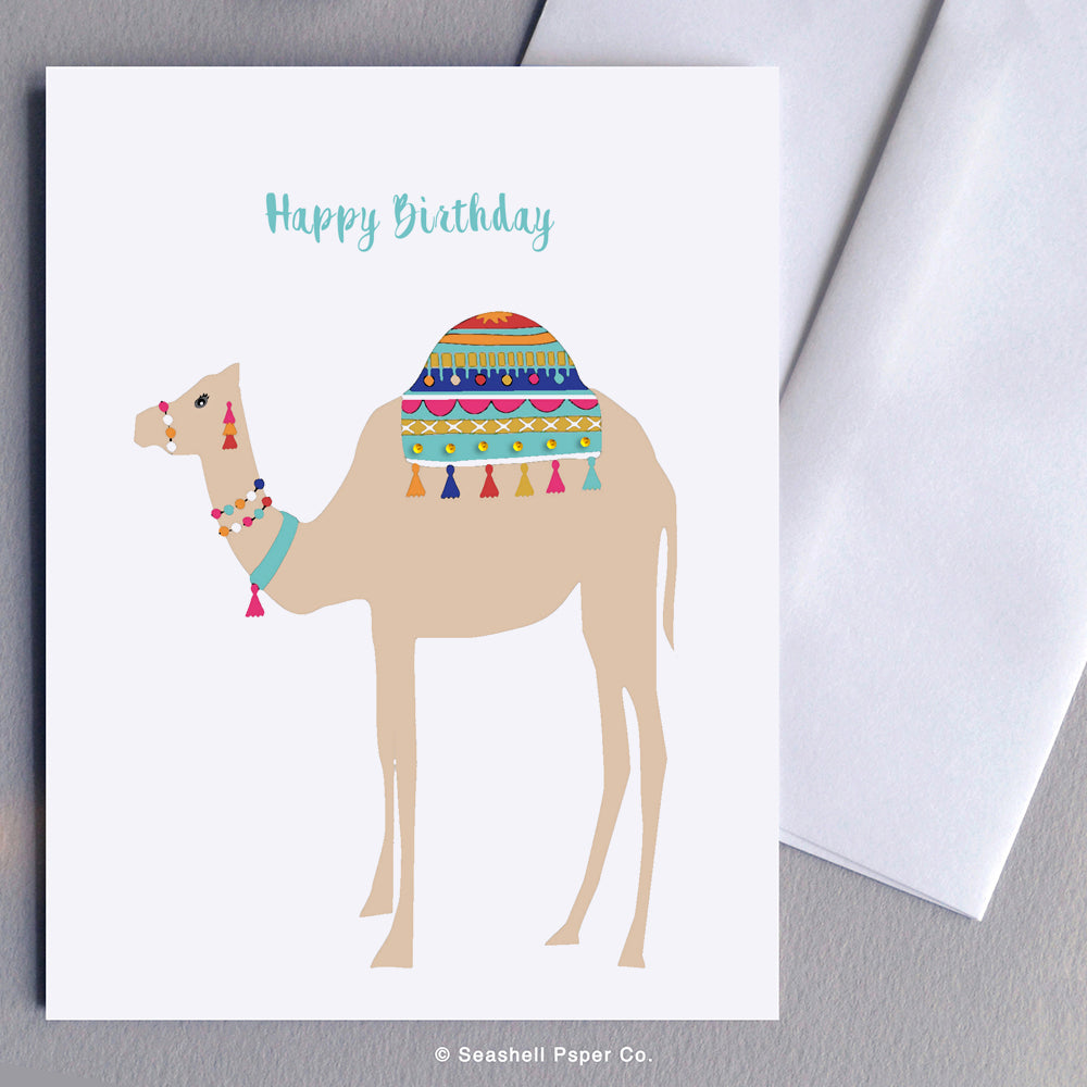 Birthday Camel Card - seashell-paper-co