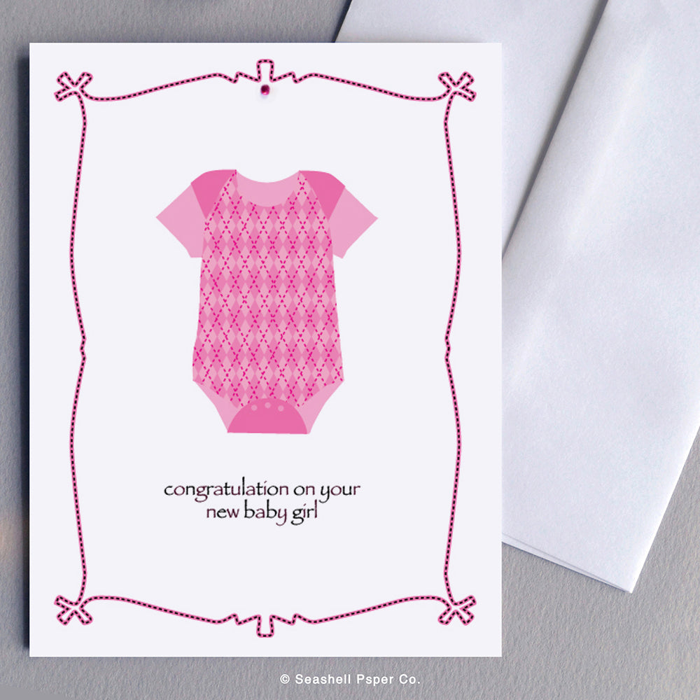 New Baby girl Card Wholesale (Package of 6)