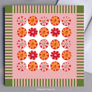 Blank Flower Pattern Card - seashell-paper-co