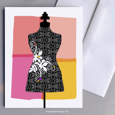 Blank Mannequin Card Wholesale (Package of 6) - seashell-paper-co