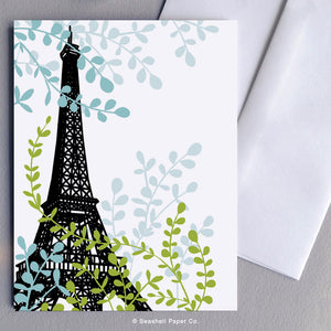 Blank Eiffel Tower Card - seashell-paper-co