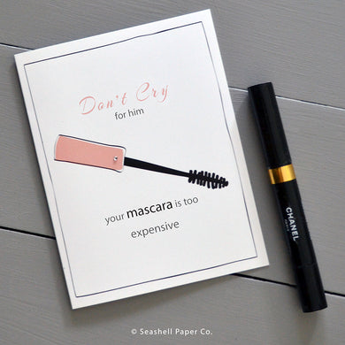 Brakeup Mascara Card - seashell-paper-co