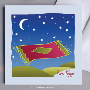 Bon Voyage Flying Carpet Card - seashell-paper-co