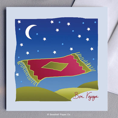 Bon Voyage Flying Carpet Card Wholesale (Package of 6) - seashell-paper-co