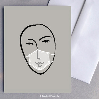 Matisse Inspired Face Mask Blank Card (Package of 6)