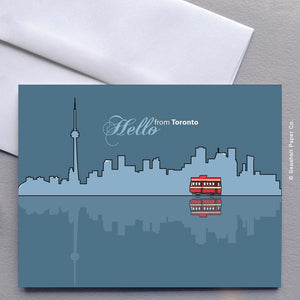 Blank Hello From Toronto Card Wholesale (Package of 6) - seashell-paper-co