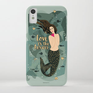 mermaid, love, heart, ocean, for her, gift, phone, case, pretty, stylish, elegant, trendy, classy, chic, girly cute,