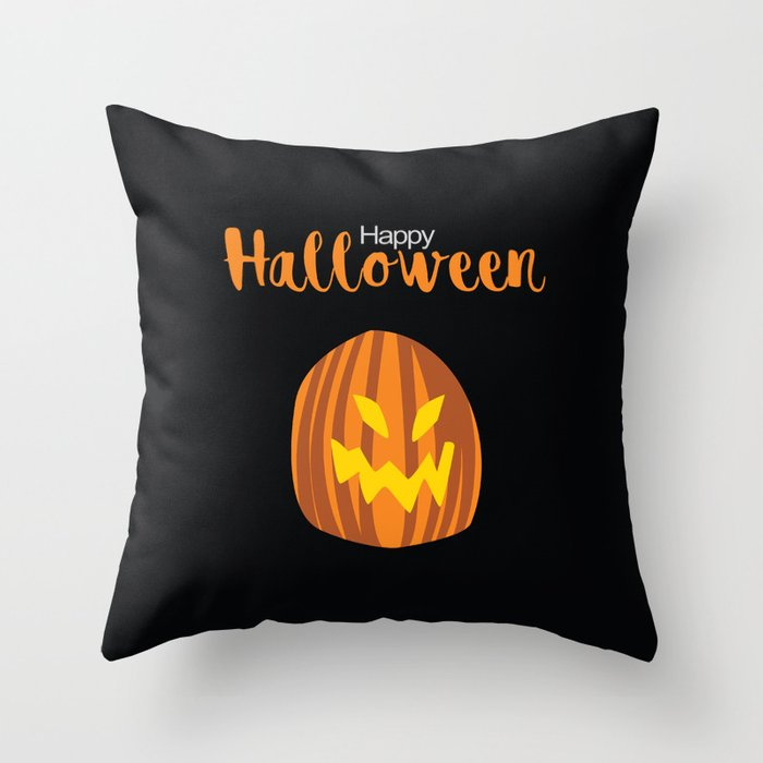 Halloween Pumpkin Premium Pillow - seashell-paper-co