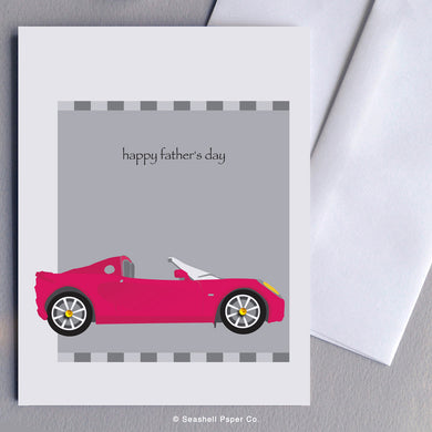 Father's Day Sport Car Card - seashell-paper-co