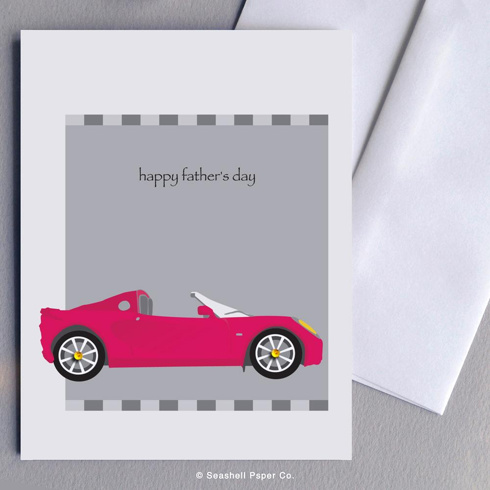 Father's Day Sport Car Card Wholesale (Package of 6) - seashell-paper-co