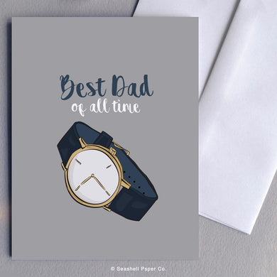 Father's Day Watch Card Wholesale (Package of 6) - seashell-paper-co