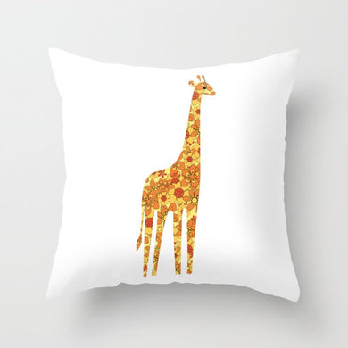 Yellow Giraffe Premium Pillow - seashell-paper-co