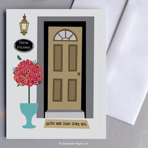 French New Home Front Door Card - seashell-paper-co