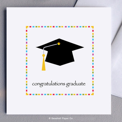 Graduation Cap Card - seashell-paper-co