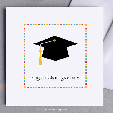 Graduation Cap Card Wholesale (Package of 6) - seashell-paper-co