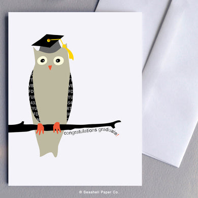 Graduation Owl Card - seashell-paper-co