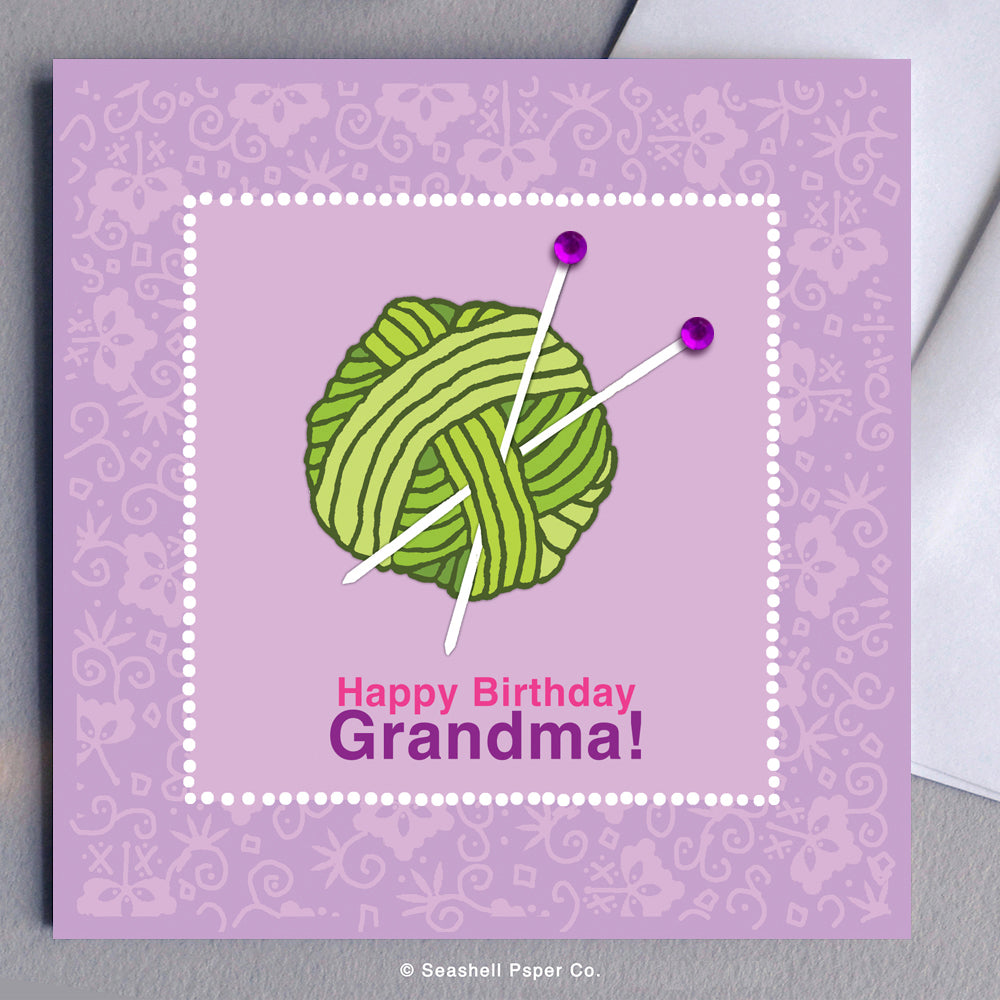 Greeting Cards, Birthday Cards, Birthday Greeting Cards, Happy Birthday Cards, Happy Birthday Greeting Card, Grandma, Grandma Birthday Card, Grandma Happy Birthday Card, Grandmother, Grandmother Birthday Card, Grandmother Happy Birthday Card, Seashell Paper Co., Stationary, Made in Canada, Sale