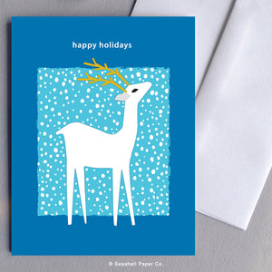 Holiday Seasons Reindeer Card - seashell-paper-co