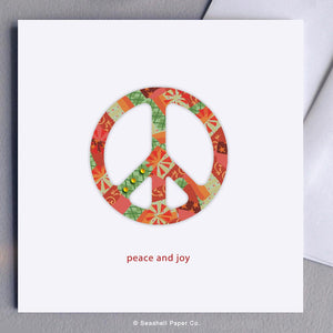 Holiday Seasons Peace And Joy Card Wholesale (Package of 6)