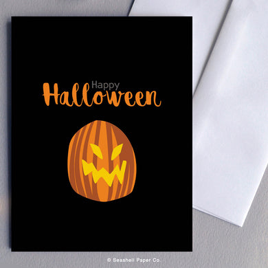 Halloween Pumpkin Card - seashell-paper-co