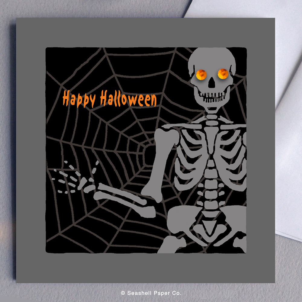 Halloween Skeleton Card - seashell-paper-co